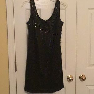 Great Sequin Black Cocktail Dress from WHBM